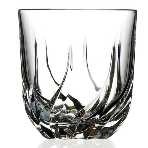 LORENZO Lorenzo RCR Crystal Trix Collection Double altmodisch, Set of 6 Crystal Drinkware Collection