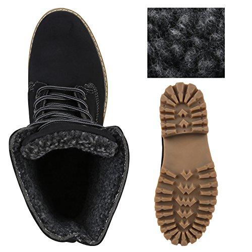 UNISEX Gefüttert Damen Herren Worker Boots Outdoor Schuhe Profil Sohle Schwarz Braun