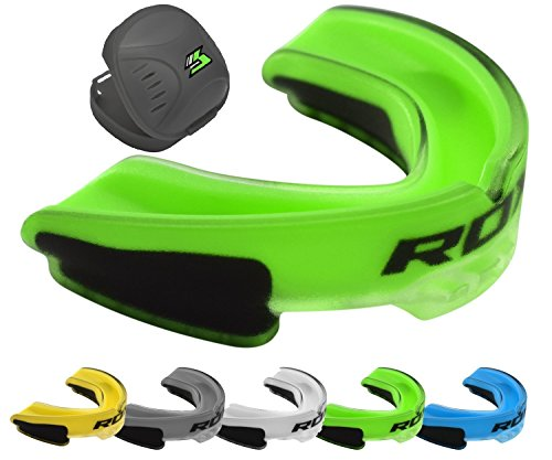 RDX Protector Bucal Doble - Colores: Verde / Amarillo / Blanco / Gris