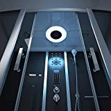 Home Deluxe – Duschtempel – Diamond schwarz – Maße: 170 x 90 x 220 cm – inkl. Whirlpool und Dampfsauna - 4