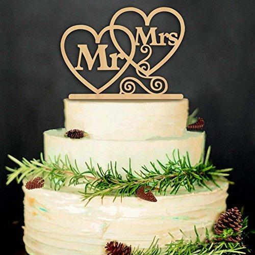 hzeit Tortenaufsatz Hochzeit Kuchen steckt Karte MR & MRS (Halloween-kuchen-dekoration Walmart)