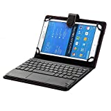 Generic Bluetooth TrackPad PU Leather Keyboard Cover for Samsung Galaxy Tab T561/S2/S3, Lenovo
