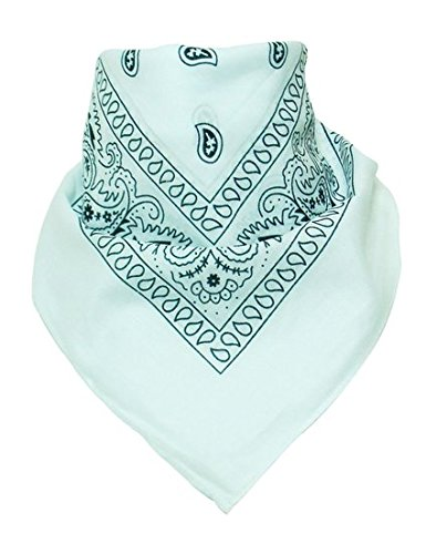 BOOLAVARD 100% coton, 1er 6 ou 12 Pack Bandanas avec motif Paisley original | Couleur au choix 12er Weiß