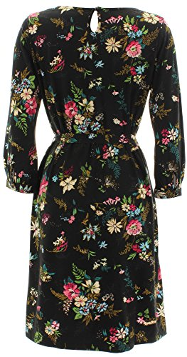 King Louie Kleid BILLIE DRESS 3/4 SL SECRET GARDEN Black Black