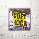 Hamburg auf Holz - *Kopf hoch* - 10x10 cm - Holzbild, Wandbild, Landhausstil, Shabby Chic, Vintage, Bilder, Motive, Hamburg, Geschenkidee, Souvenir, Deko