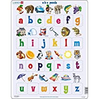 Larsen LS2826 Learn the Alphabet: 26 Lower Case Letters, Jigsaw Puzzle with 26 Pieces