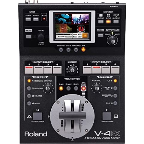 Roland Systems Group V 4EX Video Mixer 4 Channel Digital Video Mixer with (Mixer Sound System)