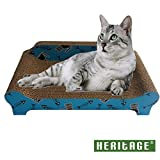 HERITAGE CARDBOARD B84 FISHBONE SOFA CAT SCRATCHER SCRATCHING BED PAD SOFA LOUNGE & FREE CAT NIP