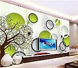 Carta Da Parati 3D Wallpaper Foto Wallpaper Murale Personalizzato Soggiorno Astratto Albero 3D Cerchio Pittura Divano Tv Sfondo Wallpaper