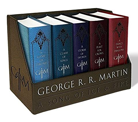 George R. R. Martin's A Game of Thrones Leather-Cloth Boxed Set (Song of Ice and Fire Series): A Game of Thrones, A Clash of Kings, A Storm of Swords, A Feast for Crows, and A Dance with