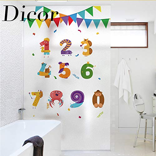 Djkaa Fenster Film Glasmalerei Aufkleber In Dekorativen Film Für Kinderzimmer Cartoon Baby Room Decor Aqua Druck Wohnzimmer Anime Poster (Aqua Room Decor)
