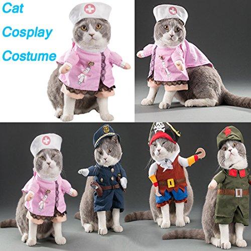 Katzen Funny Kostüme Kleine Hunde Haustiere Kleidung Halloween Festival Kleider (1Stück) (Film-charakter Halloween-kostüme Lustige)