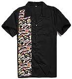 Candow Look Camisa de Hombre Casino Pattern Algodšn Camisas Casuales