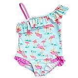 Changhants neonate costume da bagno in un unico pezzo con Pink Flamingos modello 1-14 bambini Y per bambini con la spalla volare Costume da bagno Estate Vacanze Swimwear sw0635