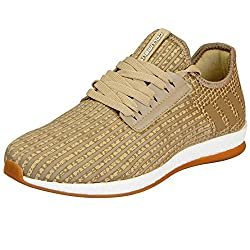 Columbus Mens Beige Sports Running Shoes HOLESTER-43