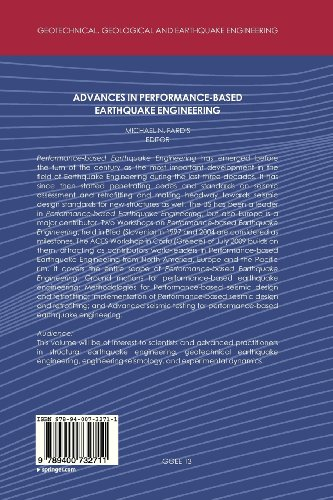Advances in Performance-Based Earthquake Engineering (Geotechnical, Geological and Earthquake Engineering)