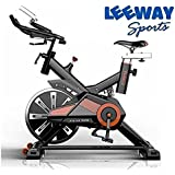 [Sponsored]LEEWAY Spin Bike RU-709 Exercise Fitness Spin Bike(Red); Exercise Cycle For Home Gym; 20kg Flywheel; Indoor Cycle; Trainer Fitness; Spin Bike (Imported)
