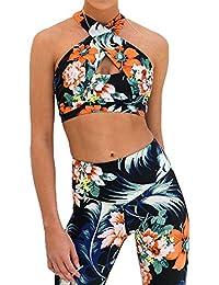 Amazon.es  Ropa de Mujer para Yoga Fitness y Running - Conjuntos ... 092dfd2feb3d9