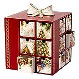 Villeroy & Boch Christmas Toys Memory Adventskalender Markt Weihnachten, Porzellan, Rot, 21x 20.5x 24cm