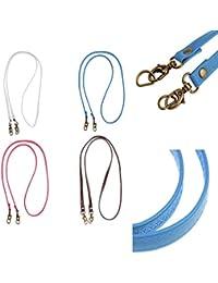 Phenovo 4Pieces Replacement Faux Leather Shoulder Strap DIY Cross Body Handbag Strap 120x1.2cm
