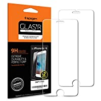 [Introducing]  Spigen Tempered Glass Screen protector for the iPhone 6 / 6s is more that meets the eye. The rounded edges offer comfort in the hand and compatibility with Spigei Phone 6 / 6s cases, all while retaining the original touchscreen...