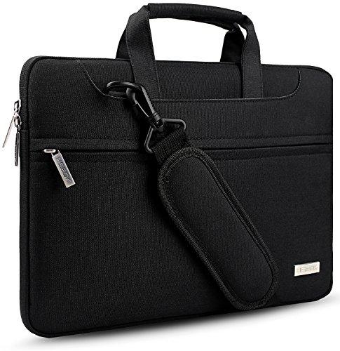 HSEOK Geeignet für Die meisten 15-15,6 Zoll Dell/Ausu/Acer/HP/Toshiba/Lenovo Notebooks Laptops/Notebooks/Ultrabooks[Innenmaße:39 x 28 cm] Wasserresistente,Farbe: Schwarz