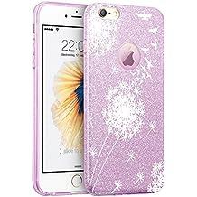 IPhone 6 Plus/6s Plus Funda,Wouier® Lujo elegante brillante TPU Silicona Parachoques PC protección Cubrir Suave Flexible Carcasa para IPhone 6 Plus/6s Plus