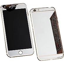 """iPhone 6 / 6s Pellicola Protettiva Specchio - Aohro Premium 9H Fronte e Retro Screen Protector Pellicola Protettiva Ultra resistente in Vetro Temperato per iPhone 6/6S 4.7"""" pollice, Argento (Silver)"""