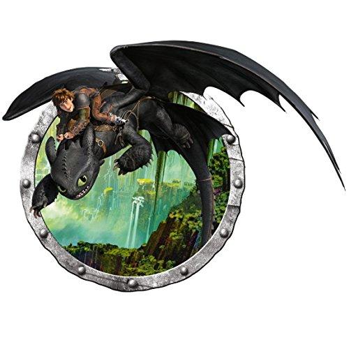 Bilderwelten Adesivo murale Dragons Hiccup And Toothless Adventure,...