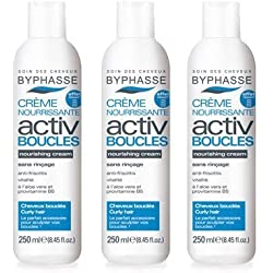 Byphasse - Creme nourrissante activ boucles cheveux boucles - 250 ml - Cheveux boucles ou ondules - Lot de 3