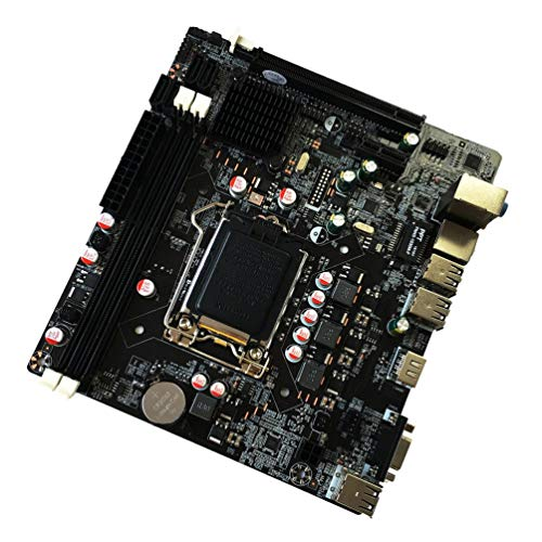 SHUANGCONG 6 Channel Mainboard P55-A-1156 Motherboard Durable Desktop Computer Mainboard Black