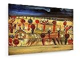 Paul Klee - Garten in der Ebene II - 1920-30x20 cm - Textil-Leinwandbild auf Keilrahmen - Wand-Bild - Kunst, Gemälde, Foto, Bild auf Leinwand - Alte Meister/Museum