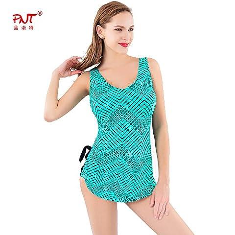 Sport Tent-Européens et américains la mode taille plus sexy One-Piece swimsuit Halter combinaison l vert , 5xl
