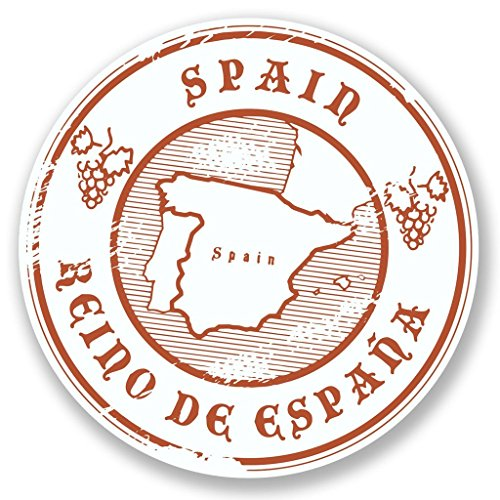 Preisvergleich Produktbild 2 x Spanien Espana Vinyl Aufkleber Aufkleber Laptop Reise Gepäck Auto Ipad Schild Fun 6578 - 10cm / 100mm Wide