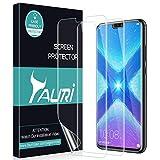 TAURI Schutzfolie für Huawei Honor 8X [3 Stücke] Klar HD TPU Folie Bildschirmschutzfolie [Blasenfreie, Einfache Installation]