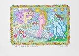 James Rizzi The Birth of Venus 2D Poster Kunstdruck Farblithographie - Kostenloser Versand
