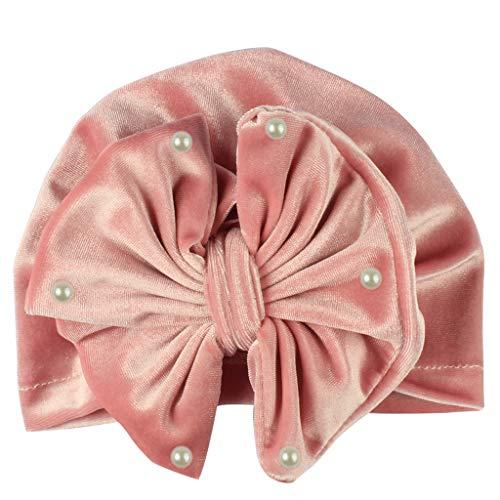 CCIKun 8 Farben Baby Mütze Neugeborene Gold Samt Perle indischer Hut Baumwolle Elastische Turban Kleinkind Stirnbänder Baby Mädchen Knoten Stirnband für 0-2 (Umfang Messung Für Kostüm)