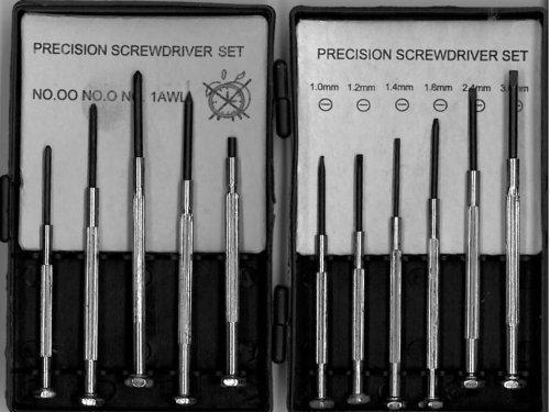 Preisvergleich Produktbild Uhrmacher-Schrauben-Dreh-Satz 6-Teilig + 5 weitere spezial Schrauber
