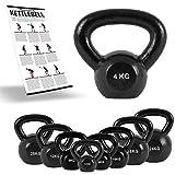 Kettlebell Professional Iron 2 – 30 kg inkl. Übungsposter Kugelhantel (4 kg)