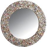 Espejo redondo de papel reciclado