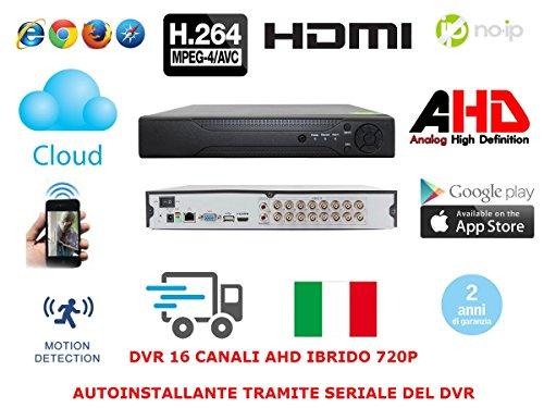 DVR 16 Canali CH AHD P2P CLOUD TVCC PTZ IBRIDO ANALOGICO PTZ VIDEOSORVEGLIANZA
