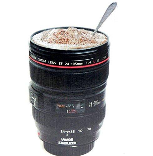 NEW Café Objectif d'appareil photo tasse mug tasse bière tasse vin Cup avec couvercle en plastique noir & Caniam Logo Tasses tazas Cafe noir