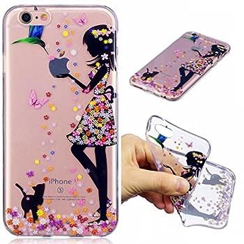 Iphone 7 Hülle Silikon Mädchen Transparenter Ultra Dünner Tpu Weicher Handy Hülle Dechyi Kunstmalerei Serie Handyhülle Iphone 7 Mädchen 0