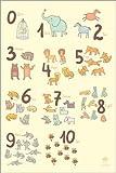 Posterlounge Alu Dibond 120 x 180 cm: Zoological Zahlen für Kindergärten von Petit Griffin
