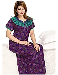 O Pagli Women s Alpine Nighty Floral Print (Purple) 8a158b460
