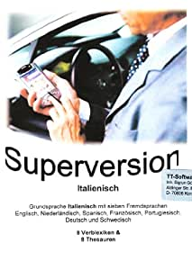 TrueTerm Superversion Italienisch, CD-ROM Für Windows98/NT/2000/Me/XP, WindowsCE ab V2.11, PocketPC2002, 2003, Mobile Edition, Mobile 5, PalmOS ab V.3 sowie Epoc32, psion Revo, mx, 5mx...