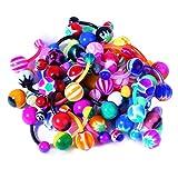BodyJ4You Lote de 50 Anillos de botón bioflex Flexibles para Ombligo, Paquete de 50