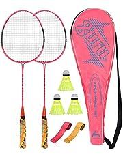 Guru CLS 350 BS07-Combo-1 Two Racket & 2 PVC Grip & 1 Cover & 3 shuttlecock Badminton Set 27 inch