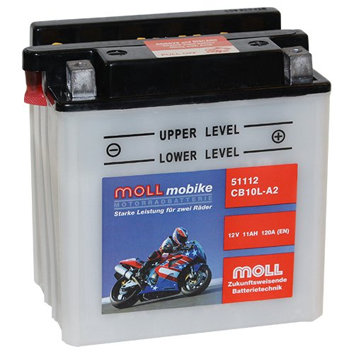 Moll mobike Motorradbatterie CB10LA-2 11Ah 12V 120A - 51112SM