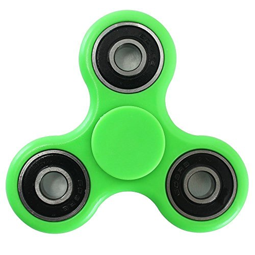 Hand Spinner Toy, Tri-Spinner Fidget Toy for Stress and Anxiety Relief – EDC Office Toy For Kids & Adults Hand Killing Time (Green)